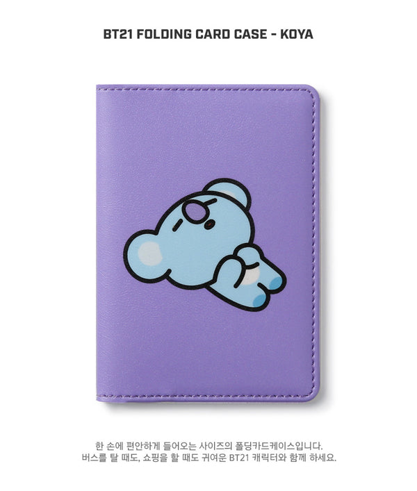 BT21 Folding Card Case - KOYA - Stationary, Accessories - Harumio