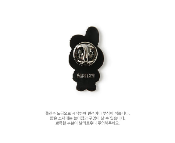 BT21 Brooch Pin Badge - COOKY - Stationary, Accessories - Harumio