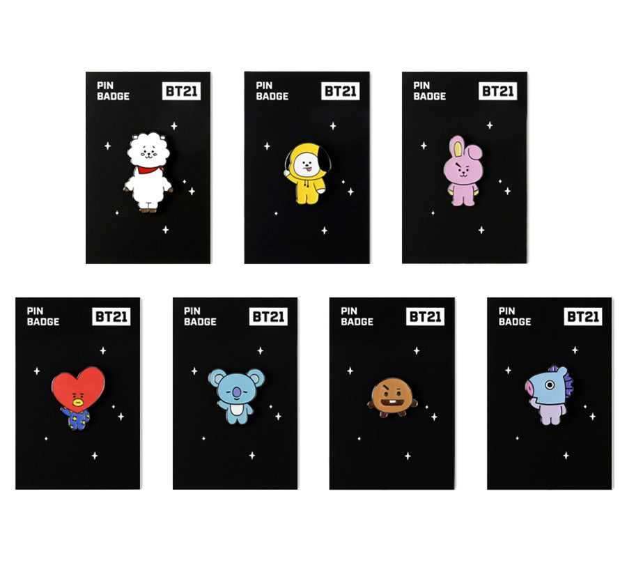 BT21 Brooch Pin Badge - MANG - Stationary, Accessories - Harumio