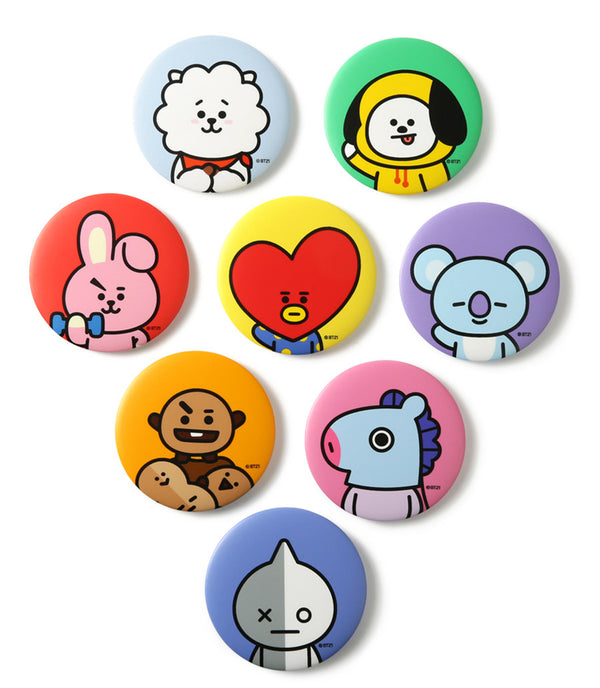 BT21 Pocket Mirror - MANG - Stationary, Accessories - Harumio