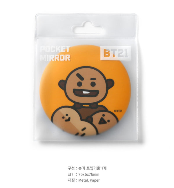 BT21 Pocket Mirror - SHOOKY - Stationary, Accessories - Harumio