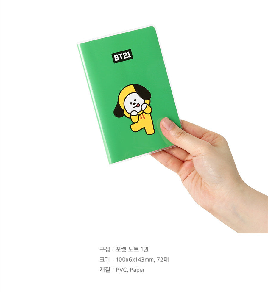 BT21 Pocket Note - CHIMMY - Stationary, Accessories - Harumio