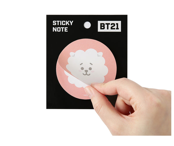 BT21 Sticky Note (Circle) - RJ - Stationary, Accessories - Harumio