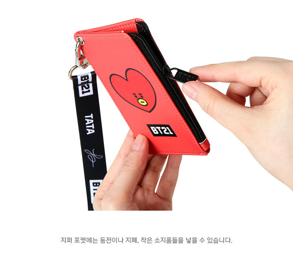 BT21 Strap Card Holder - TATA - Stationary, Accessories - Harumio