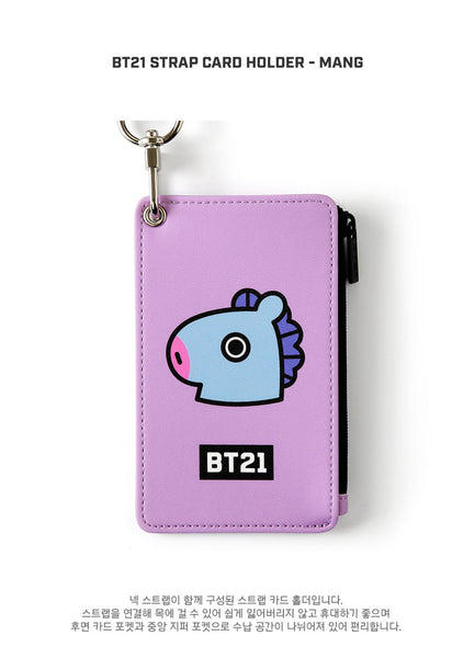 BT21 Strap Card Holder - MANG - Stationary, Accessories - Harumio