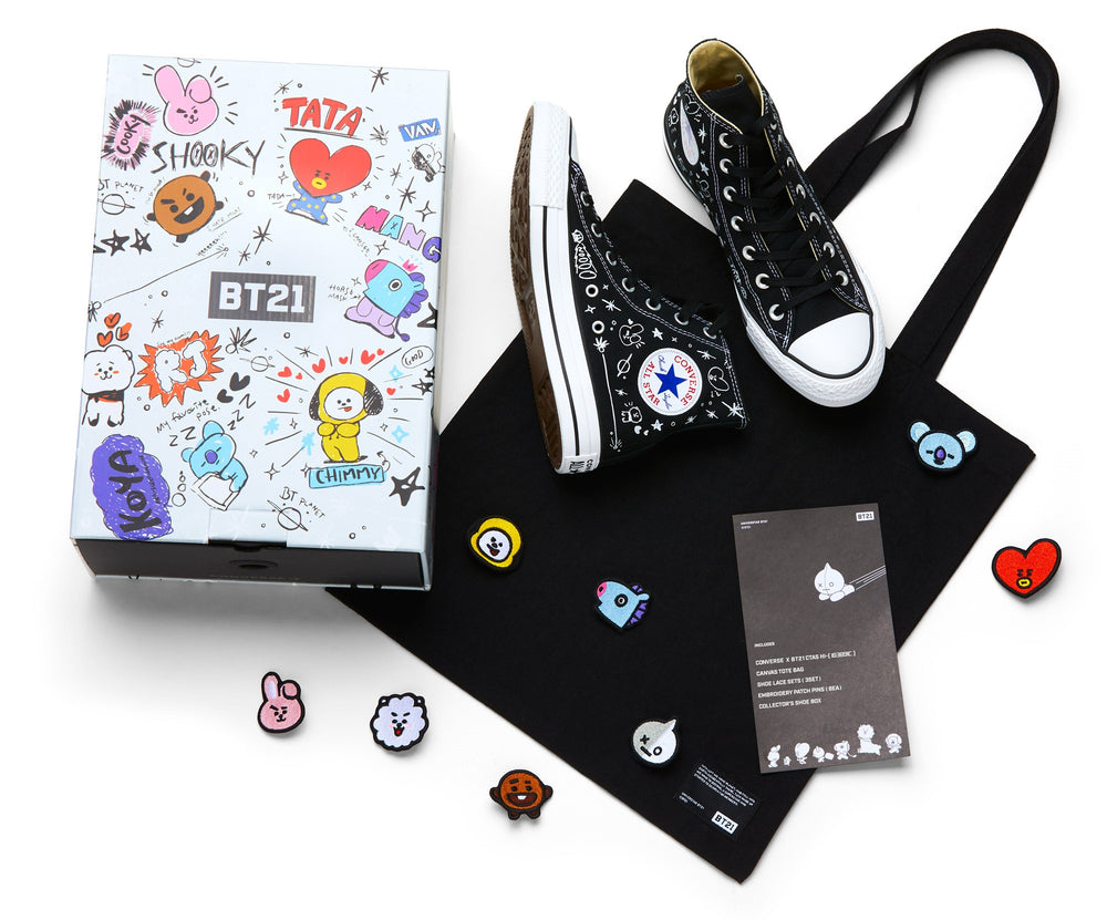 Converse X BT21 -  High Top - Black