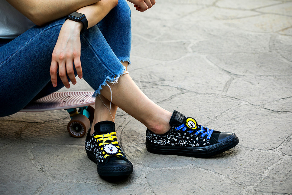 Converse X BT21 - Low Top - Black - Sneakers - Harumio