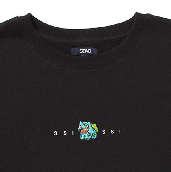 Pokemon Crewneck Sweater - Bulbasaur Black