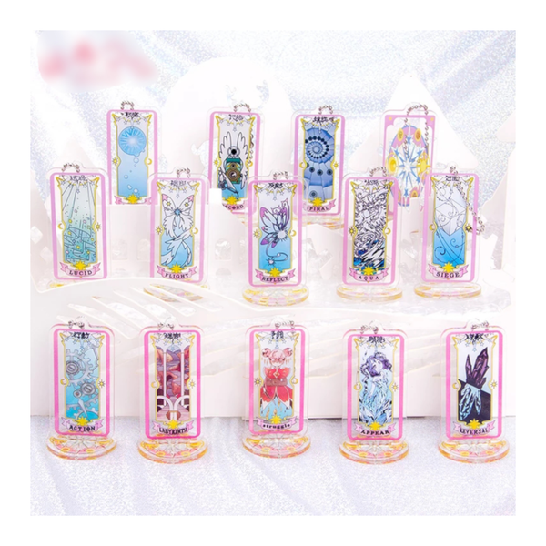 Cardcaptor Sakura Clear Cards - 14 Species Set with stand