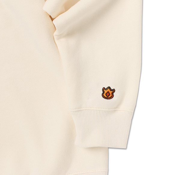 SPAO X Pokemon Crewneck Sweater - Charmander White - Crewneck - Harumio