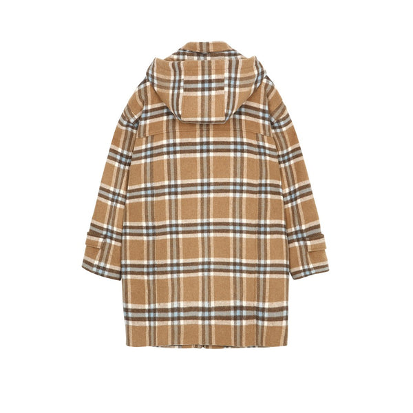 5252 by O!Oi - Check Duffle Coat