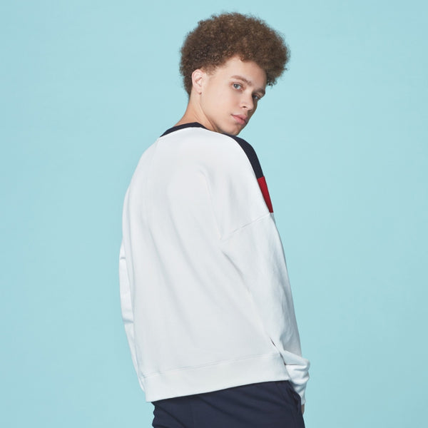 FILA - New V Color Block Long Sleeve Shirt