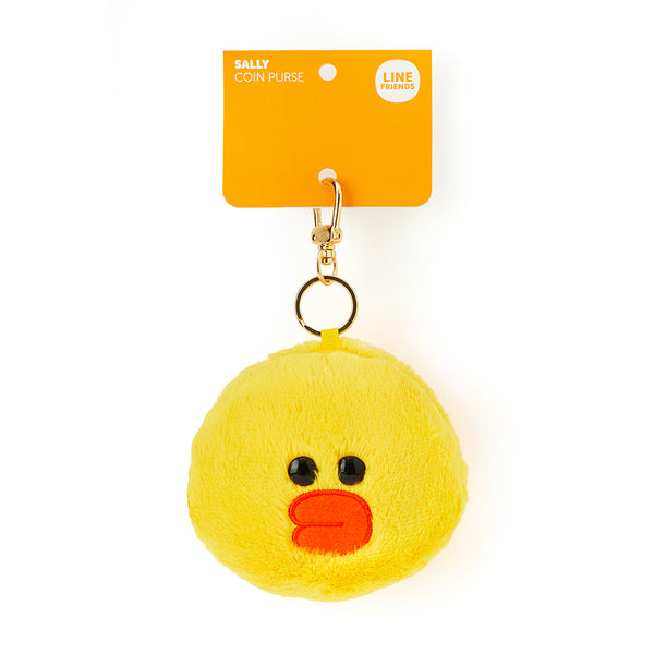 Line Friends - Sally Fur Face Coin Purse - Bag - Harumio