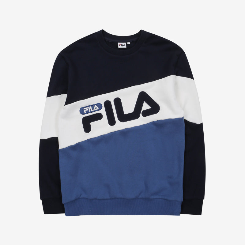 FILA - Heritage Diagonal Color Block Sweater