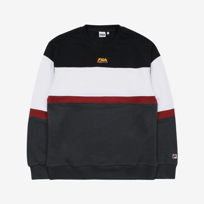 FILA - Heritage 18FW Color Block Logo Sweater - Black