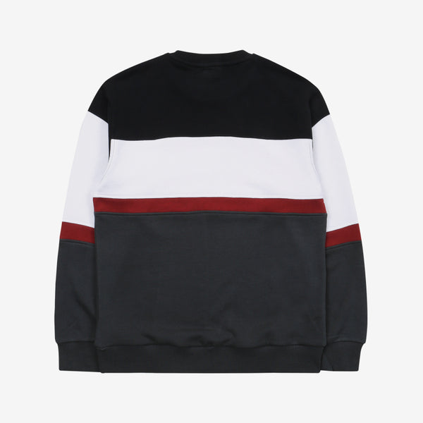 FILA - Heritage 18FW Color Block Logo Sweater - Black - Sweater - Harumio