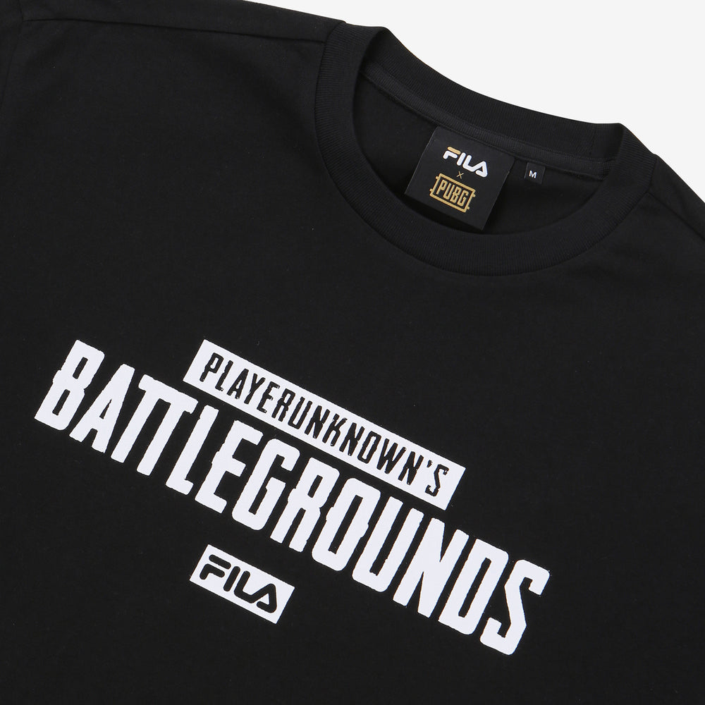 Fila x PUBG - T-shirt - Printed Gameplay - Black