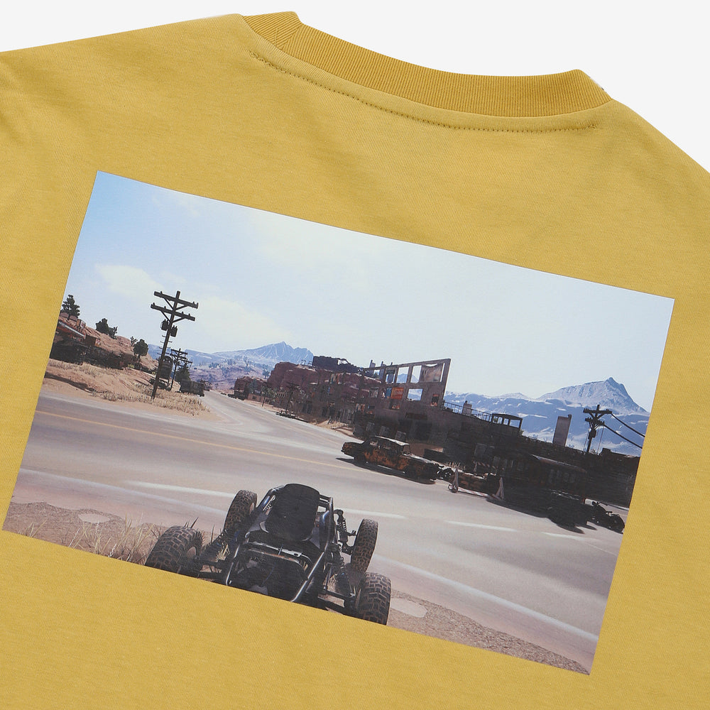 Fila x PUBG - T-shirt - Printed Gameplay - Tan