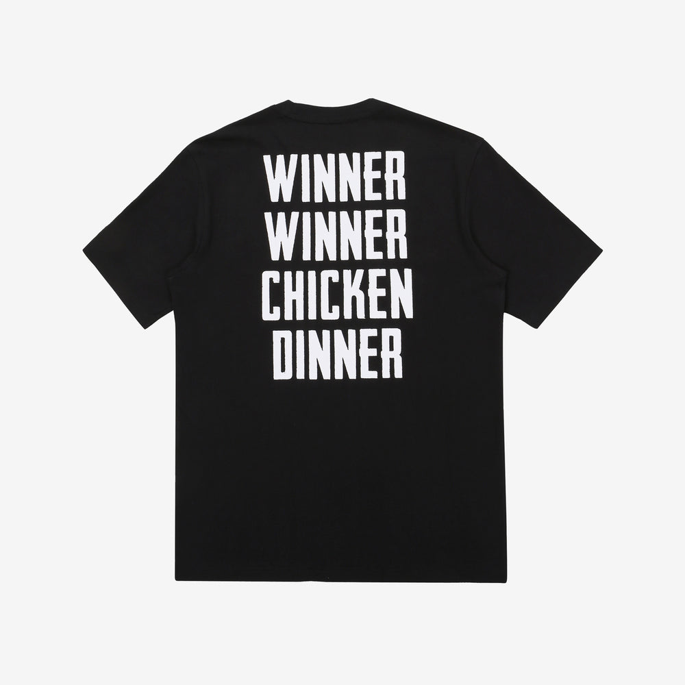 Fila x PUBG - T-shirt - Winner Winner Chicken Dinner - Black