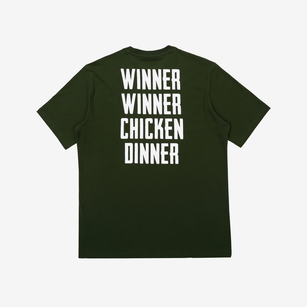 Fila x PUBG - T-shirt - Winner Winner Chicken Dinner - Dark Khaki