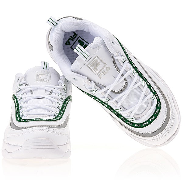 Fila Ray - Tapey Tape - White Green - Sneakers - Harumio
