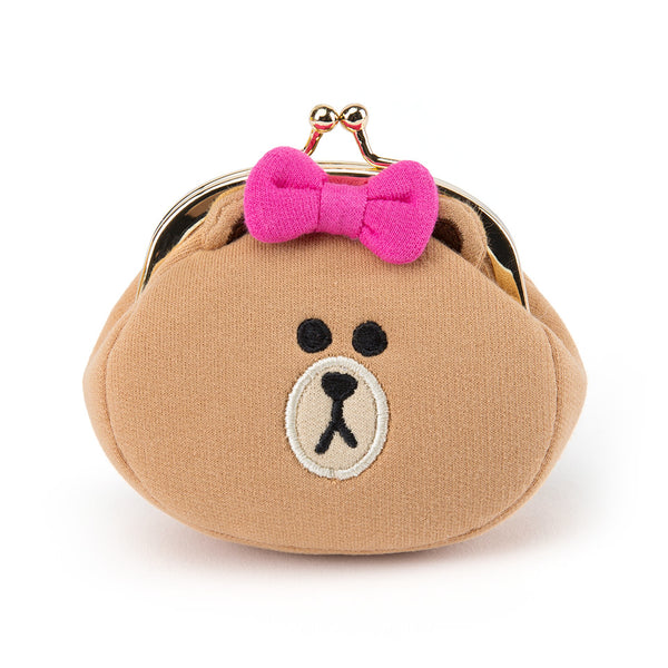 Line Friends - Choco Face Button Coin Purse - Bag - Harumio