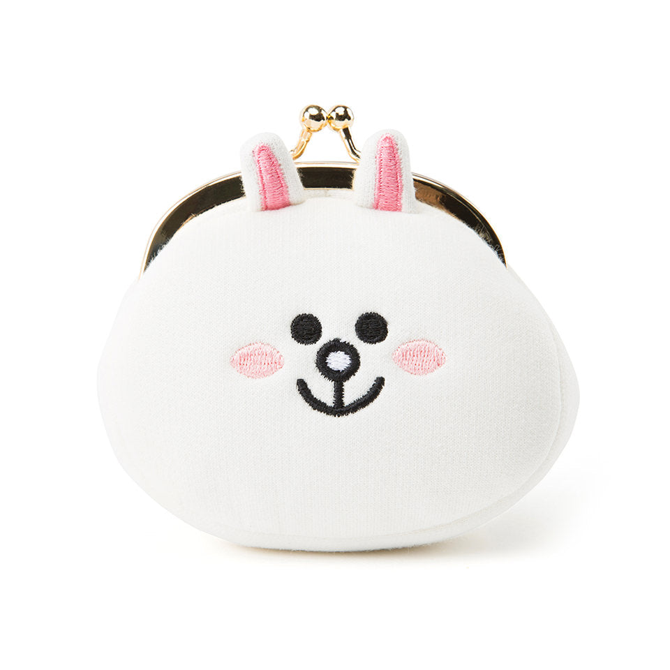 Line Friends - Cony Face Button Coin Purse - Bag - Harumio