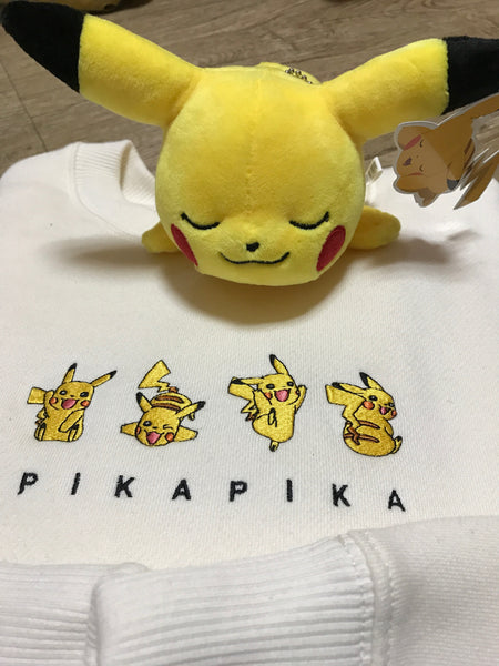 SPAO X Pokemon Crewneck Sweater - Pikachu White