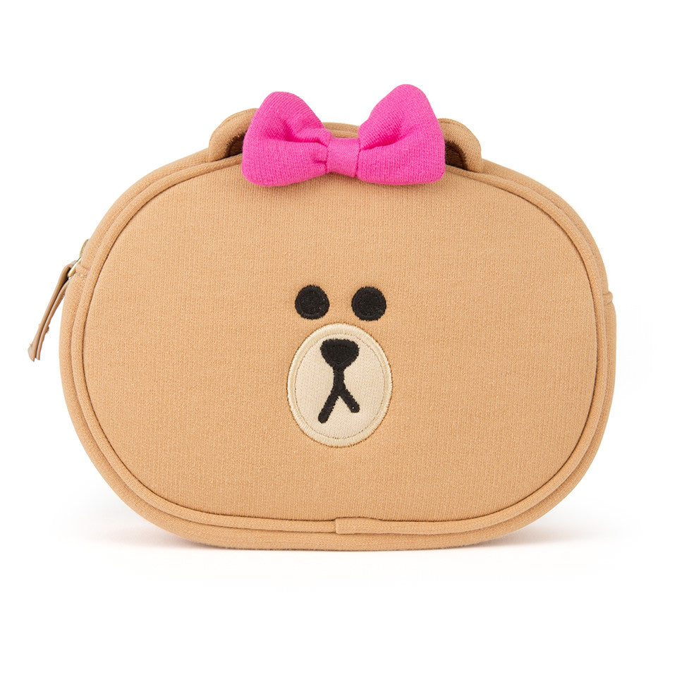 Line Friends - Choco Face Pouch - Bag - Harumio