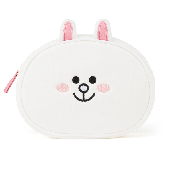 Line Friends - Cony Face Pouch - Bag - Harumio