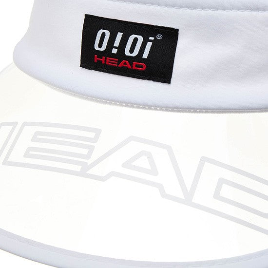 HEAD x 5252 by O!Oi - Logo Clear Sun Cap - White