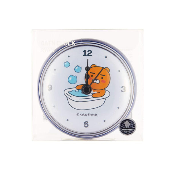 Kakao Friends - Ryan Waterproof Bathroom Suction Clock