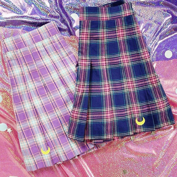 Sailor Moon  X SPAO - Sailor Moon Check Skirt