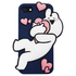 Overaction Rabbit - Silicone Phone Case - Navy
