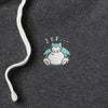 SPAO X Pokemon Fleece Zip Up Hoodie - Snorlax
