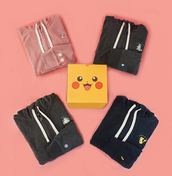 SPAO X Pokemon Fleece Zip Up Hoodie - Pikachu