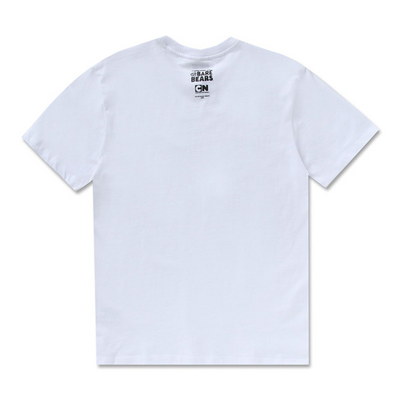 We Bare Bears X SPAO - Basic T-Shirt - White