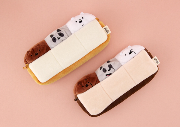 We Bare Bears -  Bread Pencil Case - Choco