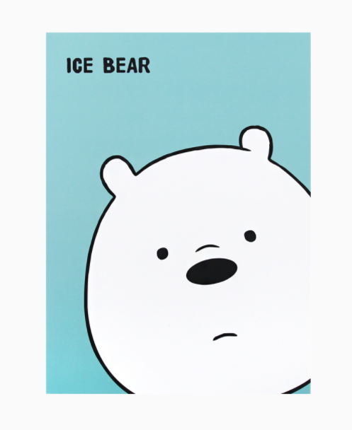 We Bare Bears -  Face Note - Ice Bear