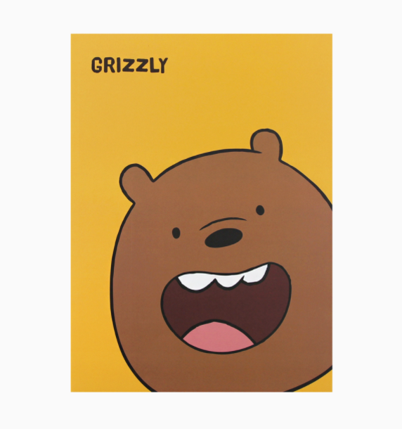 We Bare Bears -  Face Note - Grizzly
