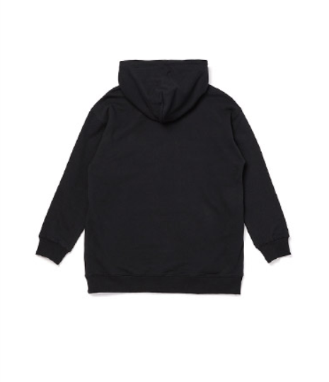 Lap - One Point Hoodie - Black - Hoodie - Harumio