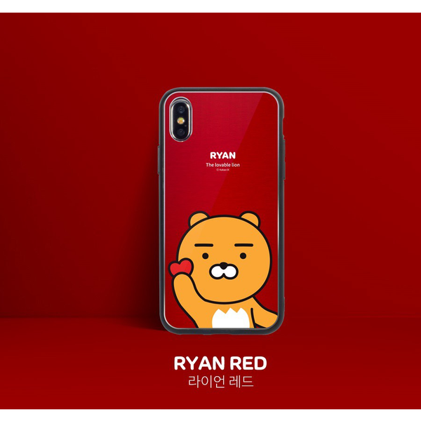Kakao Friends - Aluminum Metallic Phone Case - Ryan Red