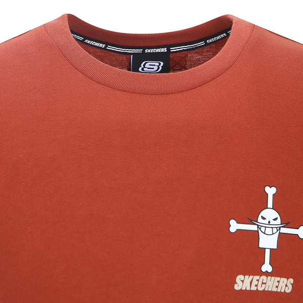 One Piece x Skechers - Men's Polo T-shirt (Dark Red)