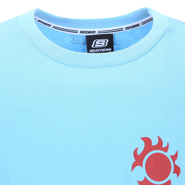 One Piece x Skechers - Men's Polo T-shirt (Sky Blue)