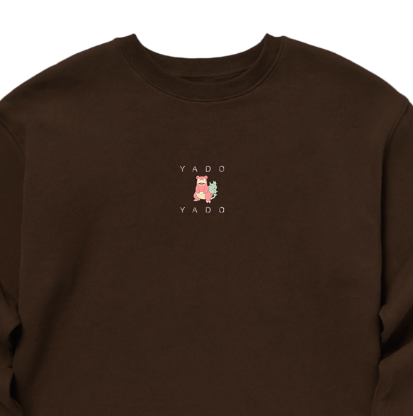 SPAO X Pokemon Slowbro Sweater - Brown - Crewneck - Harumio