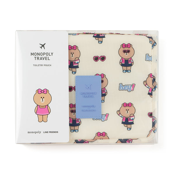 Line Friends - Choco Toiletry  Pouch - Bag - Harumio