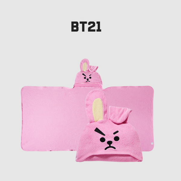 Olive Young x BT21 - Hooded Towel - Cookie