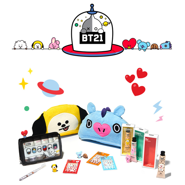 Olive Young x BT21 - Hooded Towel - Tata