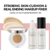 Moolda - Strobing Skin Cushion + Real Ending Makeup Fixer Set
