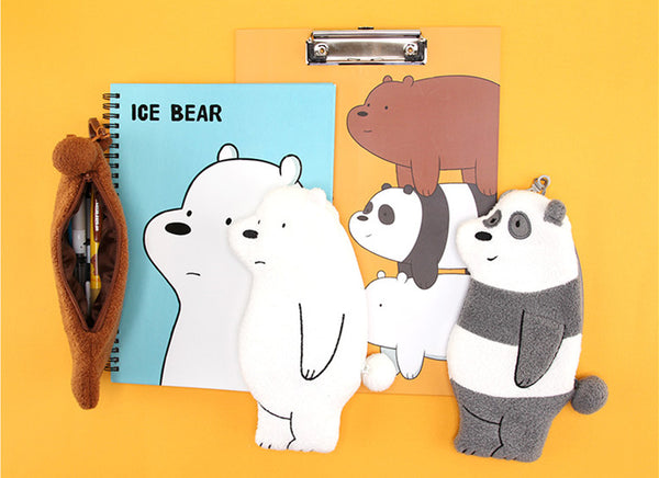 We Bare Bears - Flat Pencil Case - Grizzly